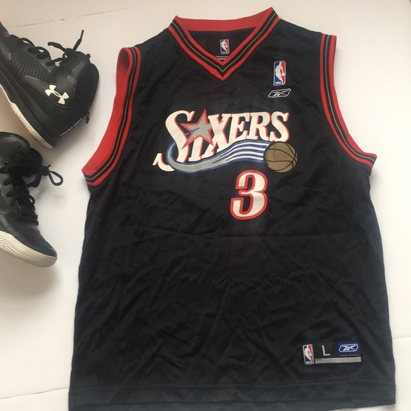 detailed look f6ebc 5ce25 Reebok Allen Iverson NBA Youth Jersey